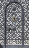 Peles Door. A door with intricate metalwork, Peles Castl, Sinaia, Romania Stock Image