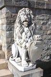 Peles Lion. Statue of a lion at Peles Castle, Sinaia, Romania Stock Image