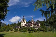 Peles Museum. Wiew from Peles Museum, Sinaia.  Castle kingdom residence in Romania Stock Photo