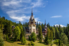 Peles Museum. Wiew from Peles Museum, Sinaia.  Castle kingdom residence in Romania Royalty Free Stock Photos