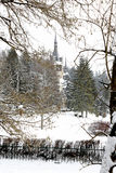 Peles Neo-Renaissance castle in the Carpathian Mountains, near Sinaia, Romania. Royalty Free Stock Photography