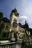Peles pałac Rumunia Szeroki kąt Obraz Stock