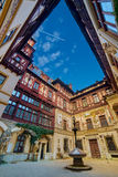 Peles Palace Inner Courtyard in Romania Stock Photos