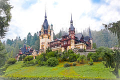 Peles palace in Sinaia, Romania Stock Photo