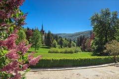 Peles palace in Sinaia,Romania. Beautiful Peles museum,Sinaia,Transylvania,Romania Stock Photo