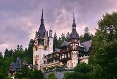 Peles Schloss lizenzfreie stockfotos