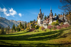 Peles Schloss in Sinaia, Rumänien Stockbilder