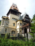 Peles side view of the castle. Peles Museum, Sinaia, Romania front view Royalty Free Stock Image