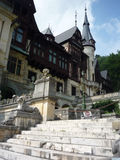 Peles side view of the castle. Peles Museum, Sinaia, Romania front view Stock Photography