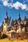 Peles slott i Rumänien Arkivfoton