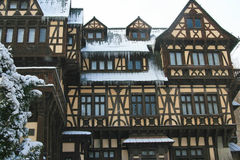Peles slott i vinter Royaltyfri Foto