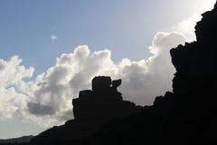 Peles stol och himmel Royaltyfri Fotografi