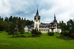 Pelesh Castle. A bueutiful transilvanian castle placed in Sinaia. This place is from the Romanian village named Sinaia Stock Photography