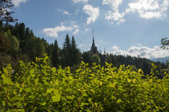 Pelesh castle. Lelesh castle, sinaia, romaniya day time Royalty Free Stock Photo