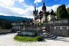 Pelesh Castle. Peleș Castle is a Neo-Renaissance castle in the Carpathian Mountains that was built between 1873 and 1914 Royalty Free Stock Photos