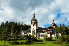 Pelesh Castle. Peleș Castle is a Neo-Renaissance castle in the Carpathian Mountains that was built between 1873 and 1914 Royalty Free Stock Image