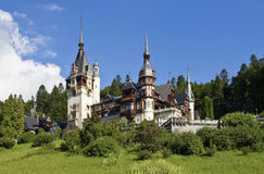 Pelesh castle in Sinaia (Romania) Royalty Free Stock Photo