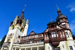 Peleskasteel Castelul PeleÈ™ Sinaia, Roemenië Royalty-vrije Stock Afbeelding