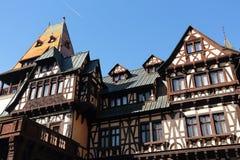 Pelesor城堡,锡纳亚市,罗马尼亚 免版税图库摄影
