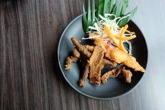 Pelez salé de filet saumoné et un peu épicé croustillants Image libre de droits