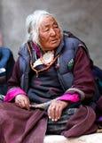 Pelgrims in Ladakh, India Royalty-vrije Stock Afbeeldingen