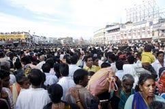 Pelgrims in Rath Yatra Stock Foto