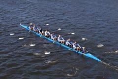 Pelham CRA Crew races in the Head of Charles Regatta Men`s Youth Eights Stock Photos