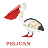 Pelican Flat Linear icon Royalty Free Stock Photography