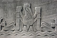 Pelican Motif. On the side of the Louisiana State Capitol royalty free stock image