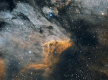 The Pelican Nebula, wide royalty free stock photography