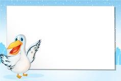 Pelican paper Stock Image