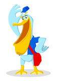 Pelican Postman. Cartoon illustration of a pelican as a postman Royalty Free Stock Photos