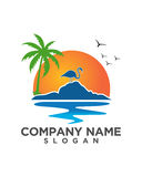 Pelican sunset vacation business insurance abstract Royalty Free Stock Images