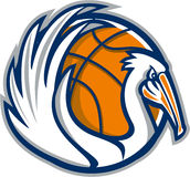 Pelican Wings Basketball Retro Royalty Free Stock Photo