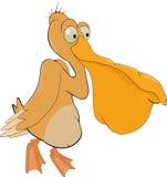 Pelicano alegre ilustração royalty free
