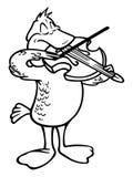 Pelicano do violinista ilustração royalty free