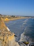 Pelicans Cliff At Pismo Beach, CA Stock Photo