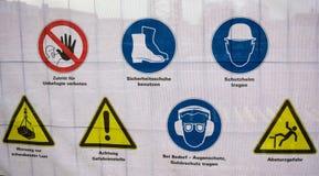 Peligro advertencia-Hamburgo Foto de archivo libre de regalías