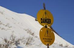 Peligro de la avalancha Imagen de archivo libre de regalías