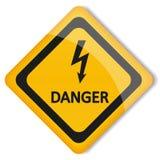 Peligro de la electricidad de la etiqueta del ejemplo del vector Libre Illustration