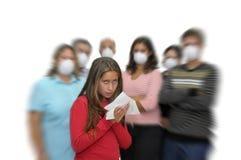 Peligro de la gripe Imagen de archivo
