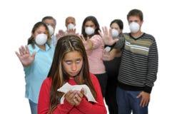 Peligro de la gripe Fotografía de archivo