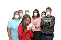 Peligro de la gripe Foto de archivo