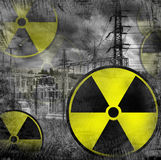 Peligro de la radiación imagen de archivo