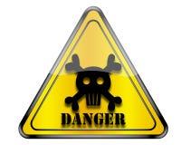 Peligro de la señal de peligro de la muerte Imágenes de archivo libres de regalías