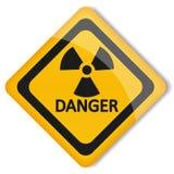 Peligro de radiación de la etiqueta del ejemplo del vector Stock de ilustración