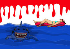 Peligro de tiburones Fotos de archivo