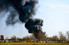 Peligro del humo fotografía de archivo