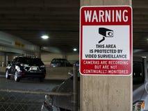 Peligro del parking Imagen de archivo
