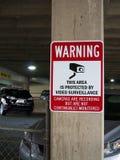 Peligro del parking Imagen de archivo libre de regalías